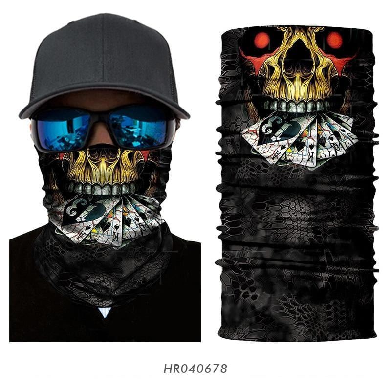 Custom Face Covering Balaclava Magic Scarf Neck Face Cover HR040678 / One Size DISCOUNT