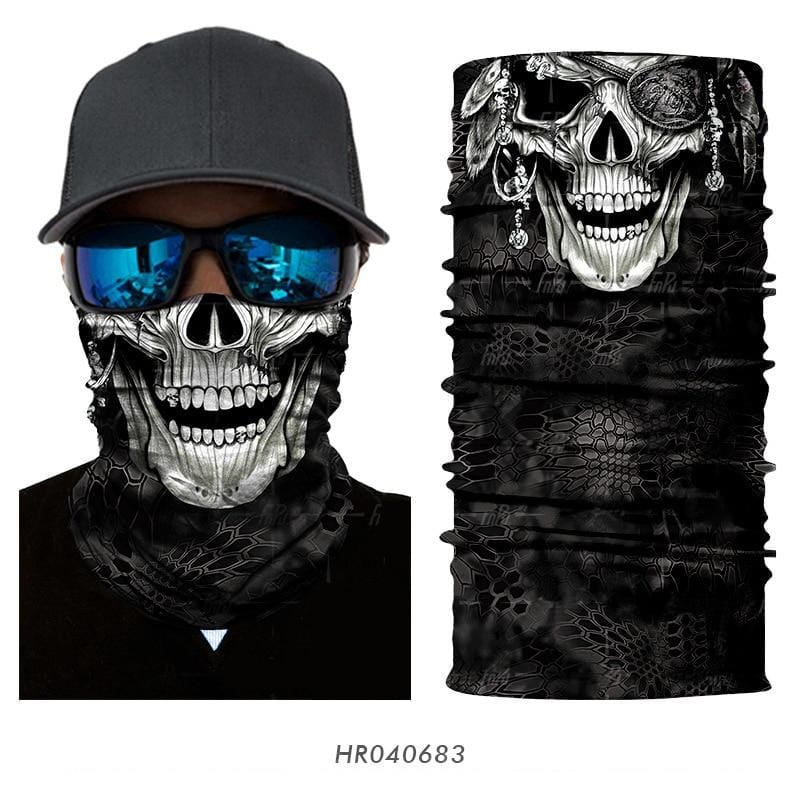 Custom Face Covering Balaclava Magic Scarf Neck Face Cover HR040683 / One Size DISCOUNT