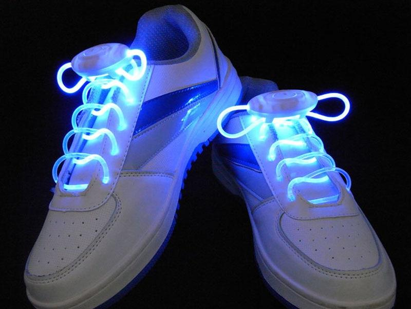LED Light Up Shoestring Glowing Shoelaces, Novelty Party Dress Decor White DISCOUNT