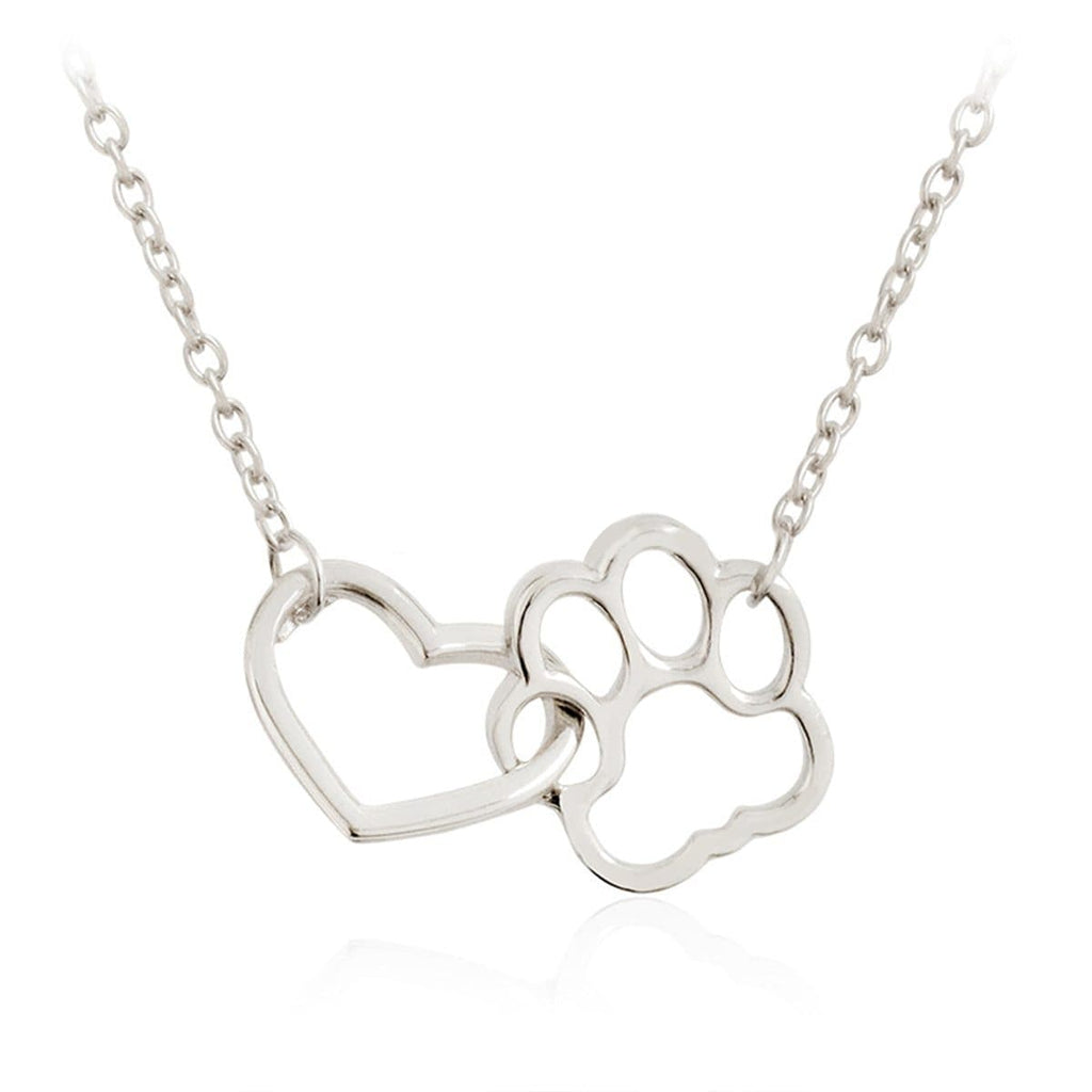 Hollow Pet Paw Footprint Necklaces Gifts DISCOUNT