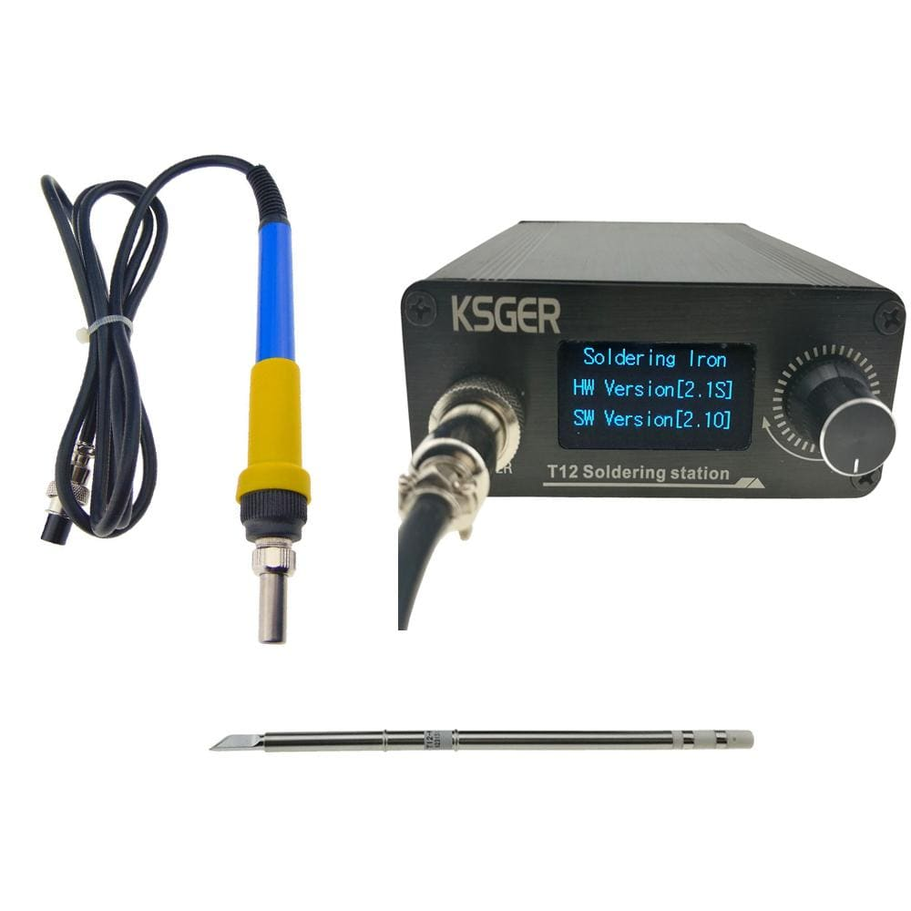 PowerBit™ T12 Electronic Soldering Station Digital Temperature Controller Welding Iron Tips T12-K + 907