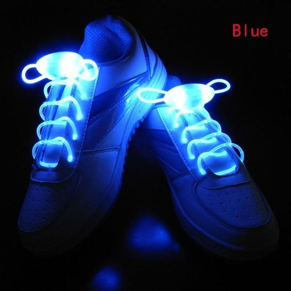 LED Light Up Shoestring Glowing Shoelaces, Novelty Party Dress Decor Blue DISCOUNT