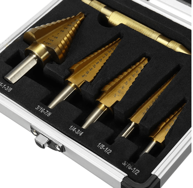 PowerBit™ 6pcs Drill Bits Hole Cutter Drilling Tool Titanium Coated