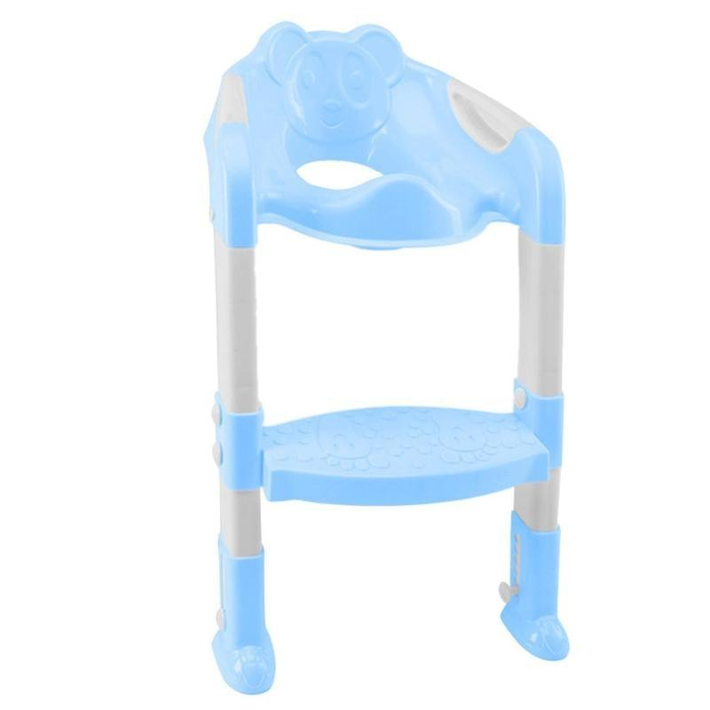 High Quality Folding Baby Potty Infant Toilet Training Seat With Adjustable Ladder Portable Baby & Kids Blue DISCOUNT