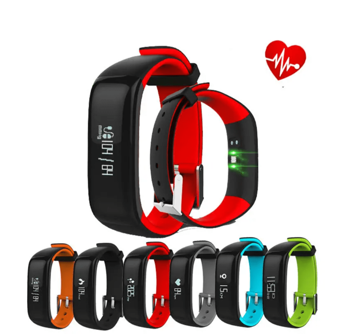 Heart Rate Blood Pressure Monitor Waterproof Bluetooth Smart Watch For iphone X 8/8