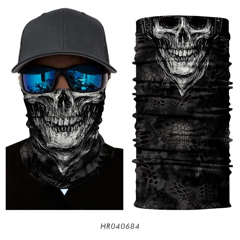 Custom Face Covering Balaclava Magic Scarf Neck Face Cover HR040684 / One Size DISCOUNT