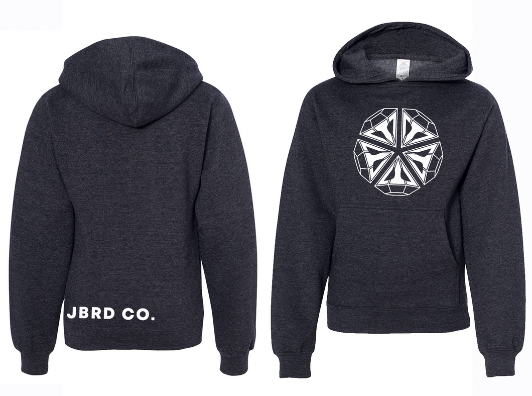 Diamond - Youth Hoodie Heather Charcoal