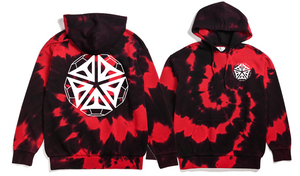 New Diamonds - Red & Black TieDye Hoodie