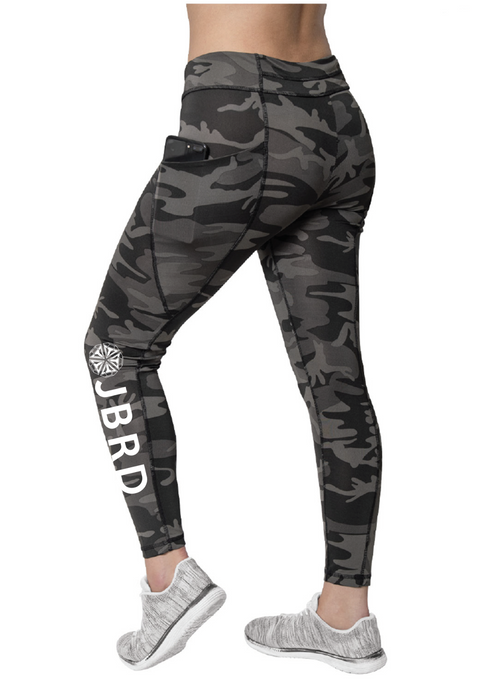 Branding Workout Leggings Black Camo - JBRD