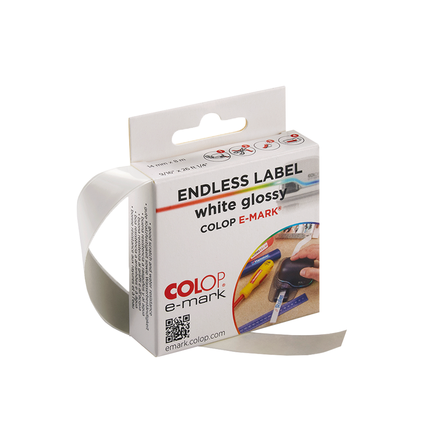 COLOP e-mark® endless label white glossy