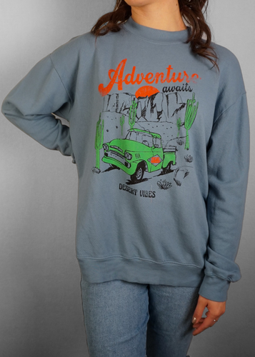 Adventure Oversized Sweatshirt - In Your Space Boutique