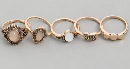 Antique Ring Set - In Your Space Boutique