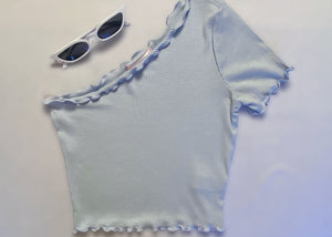 Baby Blue Top - In Your Space Boutique
