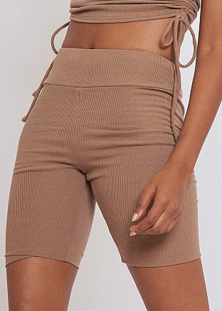Mocha Biker Shorts - In Your Space Boutique