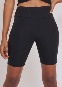 Black Biker Shorts - In Your Space Boutique