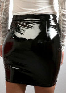 Kiara Mini Latex Skirt - In Your Space Boutique