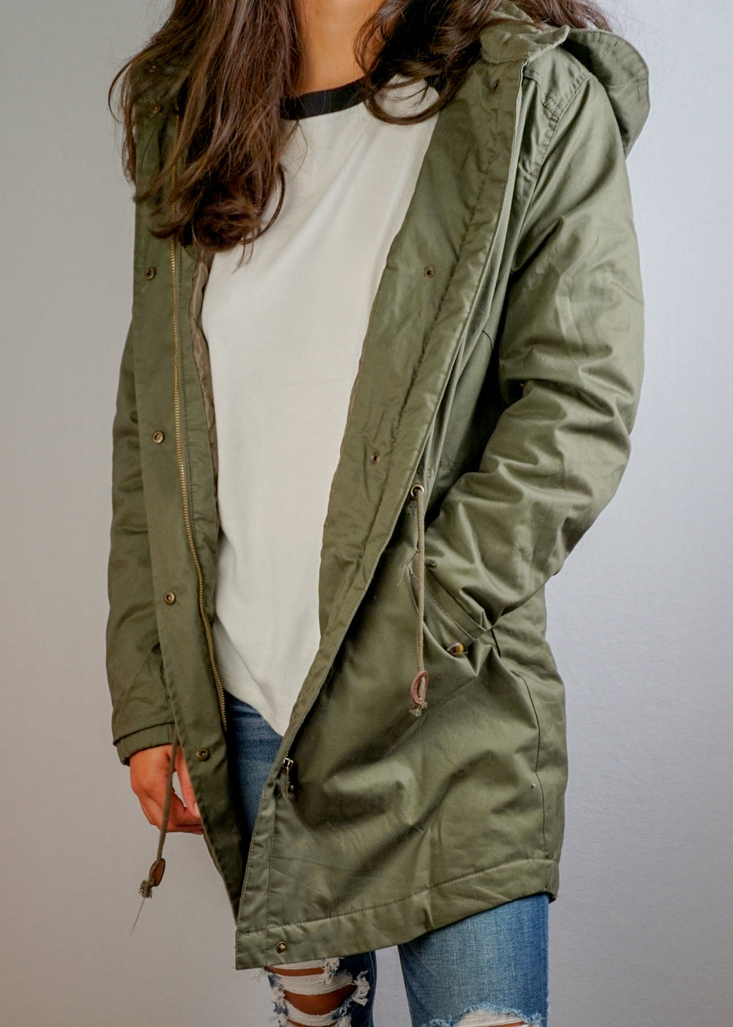 Hooded Parka Jacket - In Your Space Boutique