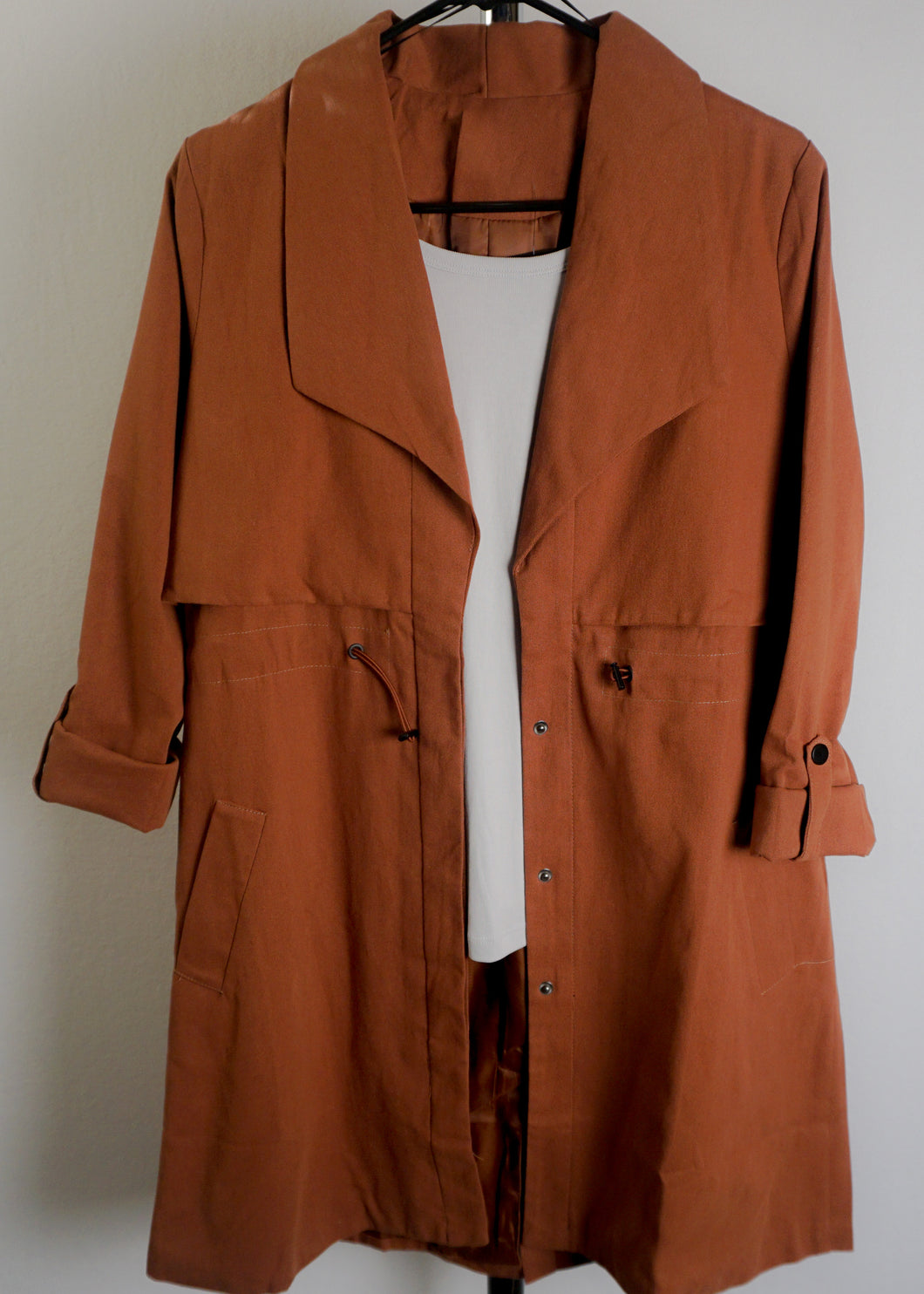 Rust Trench Coat - In Your Space Boutique
