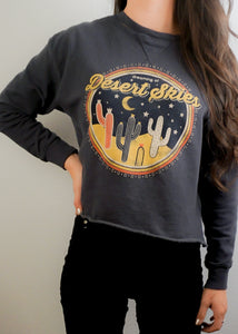 Navy Vintage Graphic Sweatshirt - In Your Space Boutique
