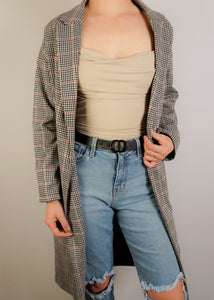 Plaid Coat - In Your Space Boutique