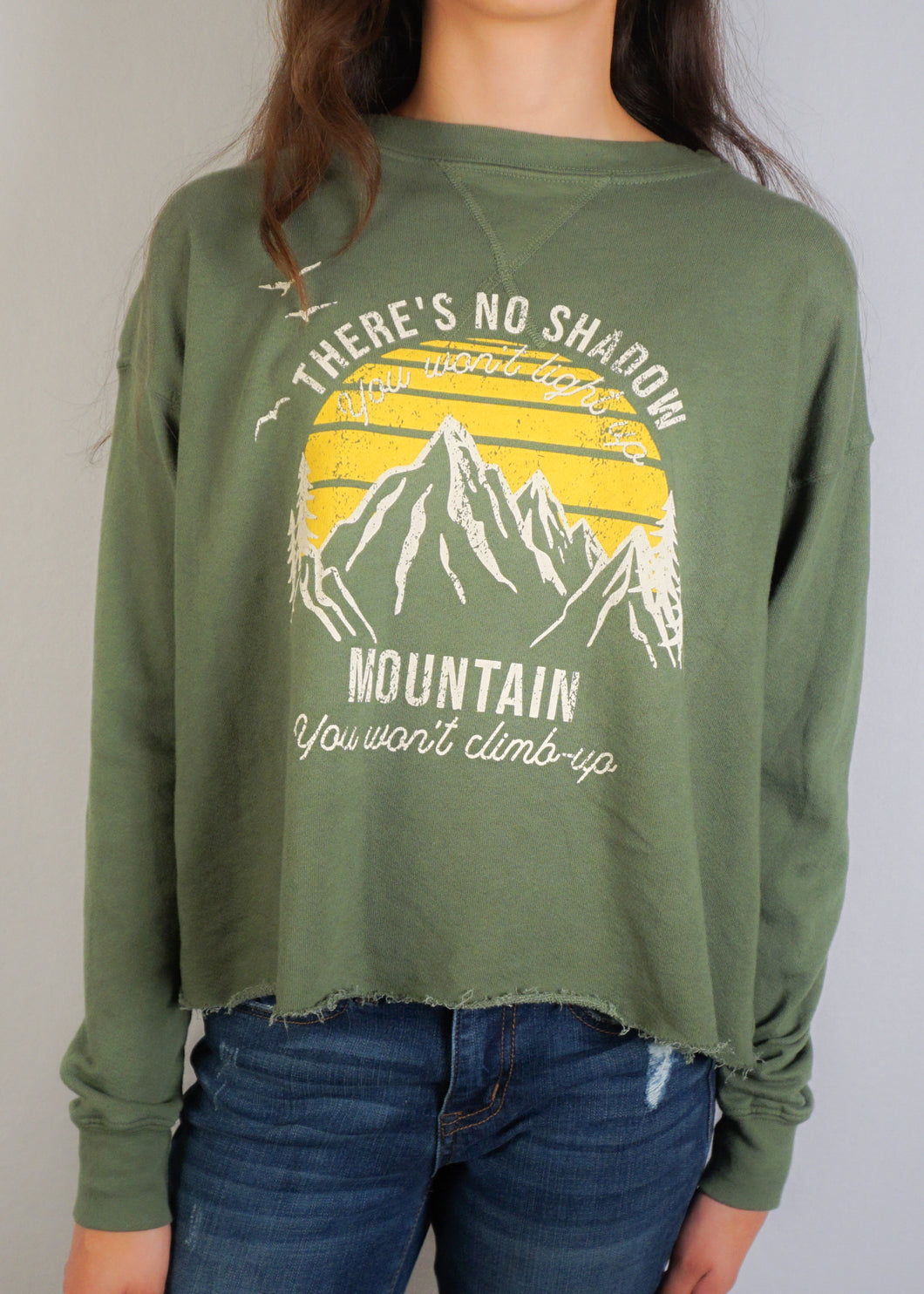 Olive Vintage Graphic Sweatshirt - In Your Space Boutique