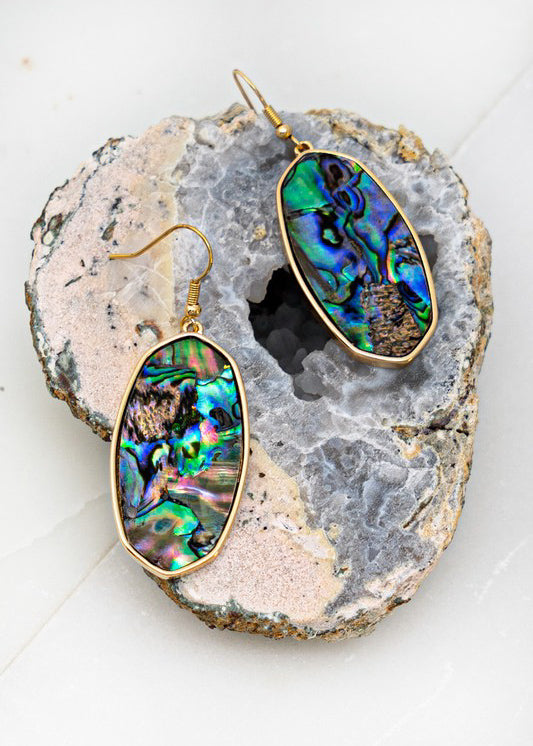 Oval Stone Earring - In Your Space Boutique