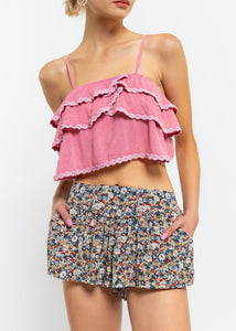Ruffle Tank Top - In Your Space Boutique