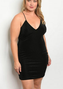 Black Velvet Dress - In Your Space Boutique