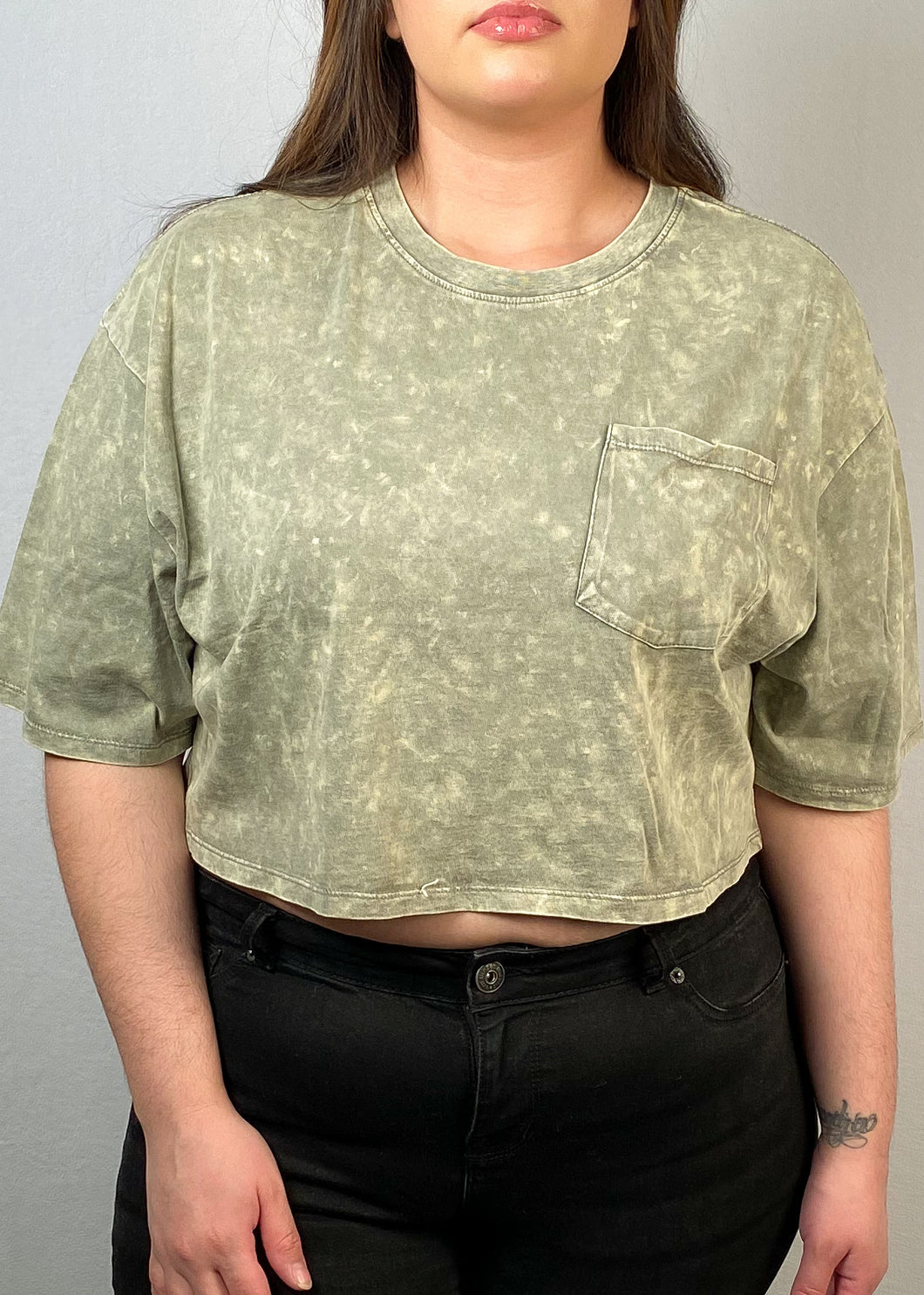 Sage Crop Top - In Your Space Boutique