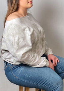 TyeDye Off the Shoulder Shirt - In Your Space Boutique