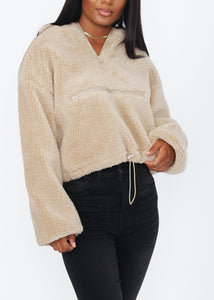 Kimmy Sherpa Pullover - In Your Space Boutique