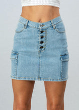Load image into Gallery viewer, Denim Mini Skirt - In Your Space Boutique