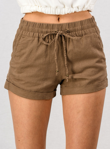 Mocha Shorts - In Your Space Boutique