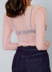 Blush Mesh Top - In Your Space Boutique