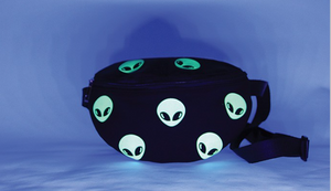 Alien Fanny Pack, Glow In The Dark - In Your Space Boutique