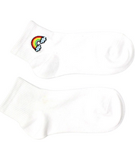 Load image into Gallery viewer, Rainbow Embroidered Ankle Socks - In Your Space Boutique