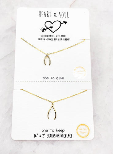 Wishbone Necklace - In Your Space Boutique