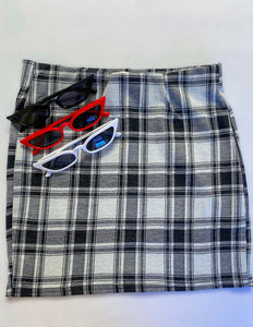 Checkered Mini Skirt - In Your Space Boutique