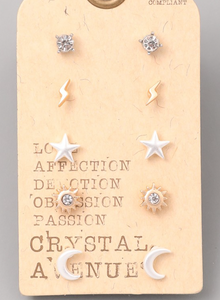 Stars Stud Set - In Your Space Boutique