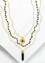 Load image into Gallery viewer, Black Onyx Stone Pendant Necklace - In Your Space Boutique