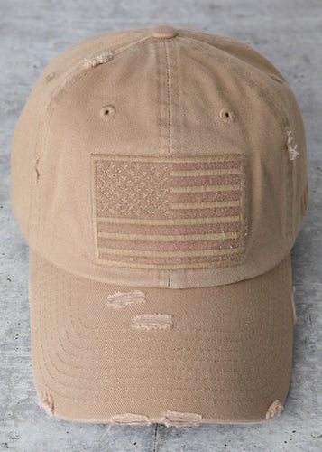 USA Cap (Khakie) - In Your Space Boutique