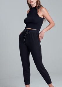 Waffle Jogger Pants - In Your Space Boutique