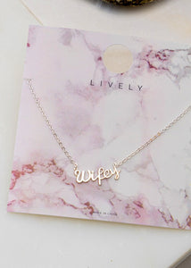 Wifey Necklace - In Your Space Boutique