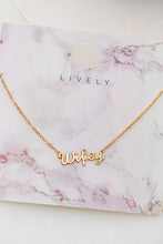 Load image into Gallery viewer, Wifey Necklace - In Your Space Boutique