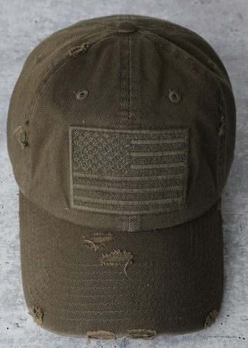 USA Cap (Olive) - In Your Space Boutique