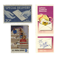 Special Delivery - Blue Postage
