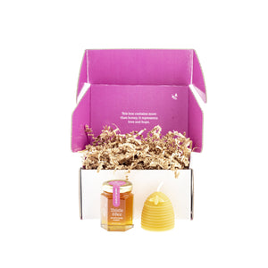 Honey + Candle Gift Set