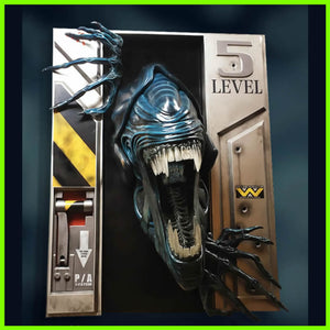 Queen Alien Xenomorph Wall Sculpture - STL File for 3D Print - indymodel88