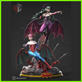 Morrigan and Lilith - STL File for 3D Print - indymodel88