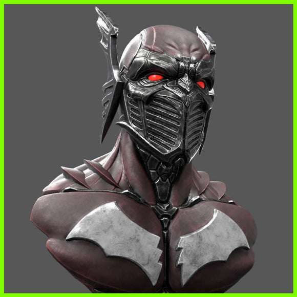 Batman Red Death Bust - STL File for 3D Print - indymodel88